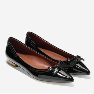 Cole Haan Alice Bow Skimmer Flat - Patent Leather